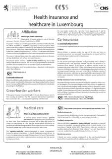 Health insurance and healthcare in Luxembourg