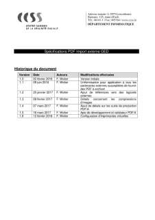 Spécifications PDF Import externe GED